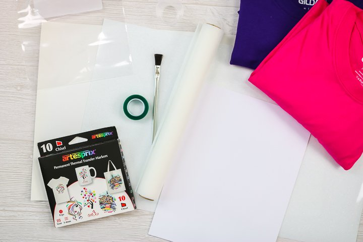 supplies to make cotton sublimation shirts