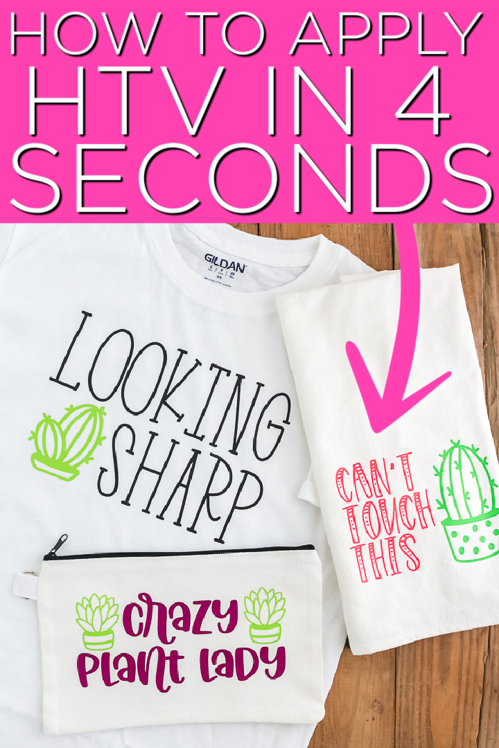 Learn how to use B-Flex Heat Transfer Vinyl and press your HTV projects in just 4 seconds. You are going to love the GIMME5 and what it can do! #htv #heattransfervinyl #cricut #cricutcreated #cactus #plants #svgfiles #svg