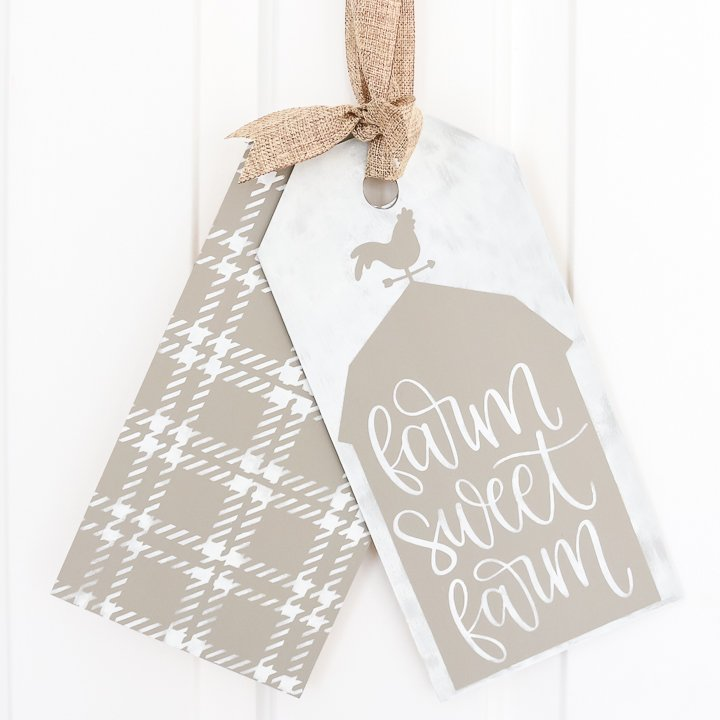 farmhouse style door tags