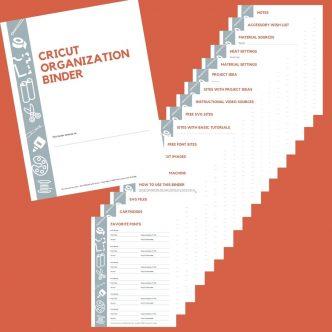binder to organize cricut
