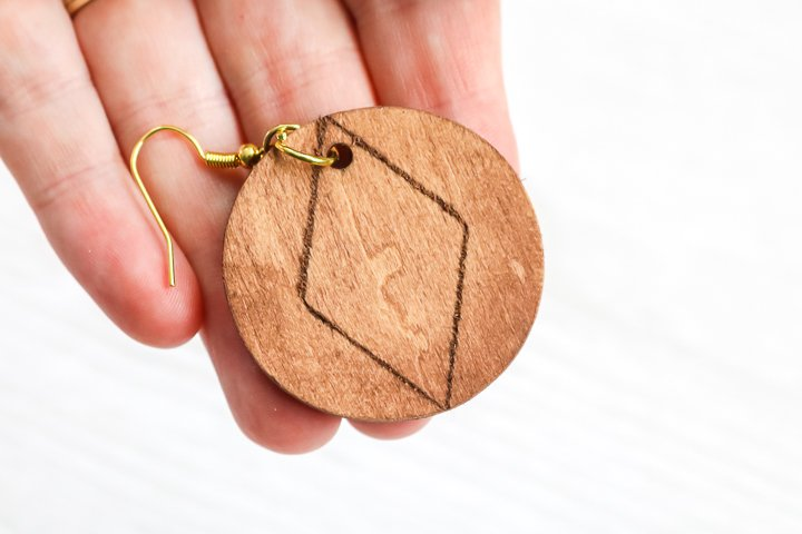 finished wood earring craft