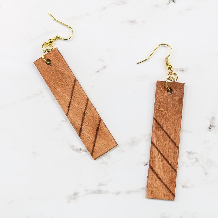single line engraving on wood