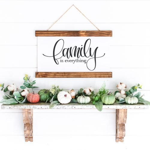 family sign made with a cricut