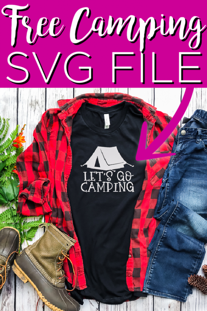 Free camping SVG file for your Cricut or Silhouette machine! For those that love camping trips, this is one cut file you don't want to miss! #camping #cricut #cricutcreated #freesvg #cutfile