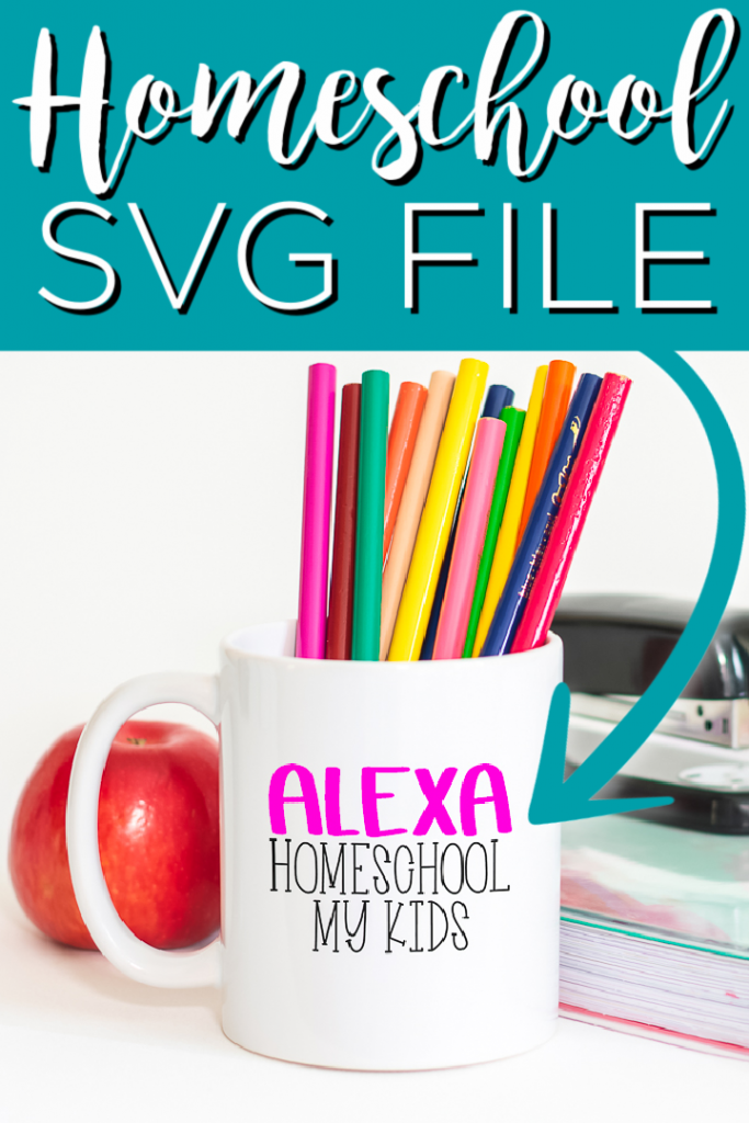 Download this free homeschool SVG file for your Cricut machine and start making projects today! We have a total of 11 files you can get for free as well! #svg #freesvg #homeschool #virtuallearning #cricut #cricutcreated