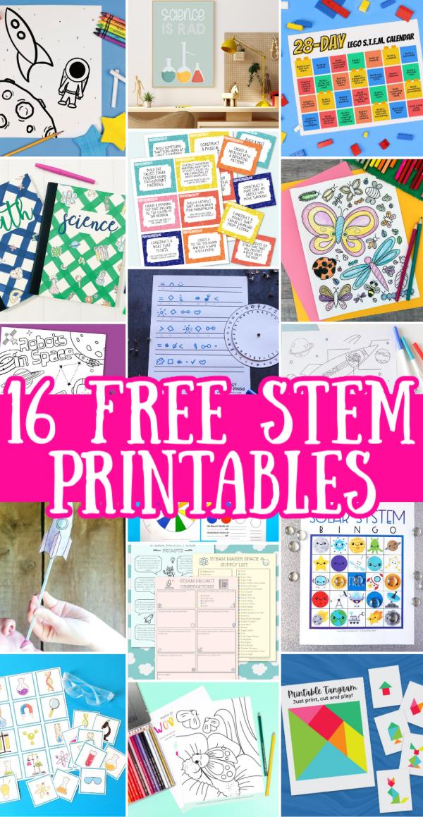 free stem printables