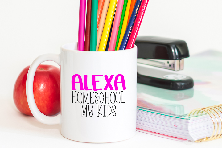 alexa homeschool my kids svg