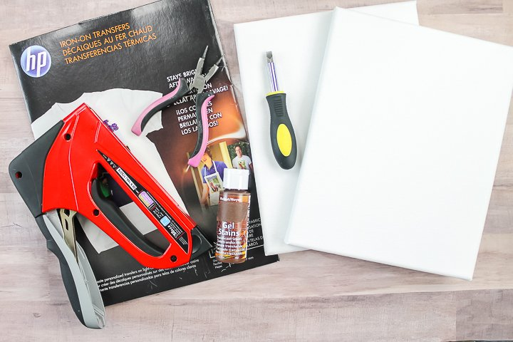 supplies to make a photo canvas at home