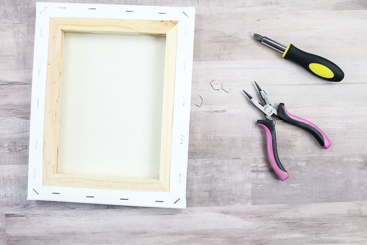 removing canvas from frame