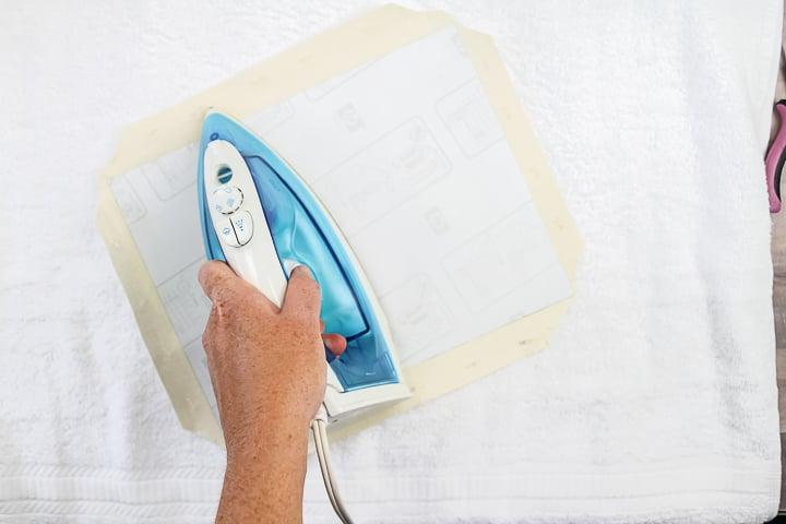 iron on tshirt transfer to canvas