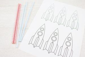 supplies to make paper rockets