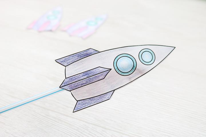 adding a straw to a rocket
