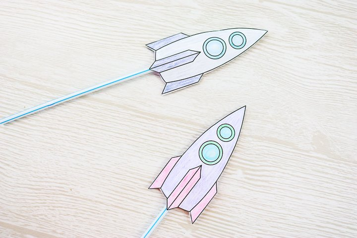 kids rockets made from paper