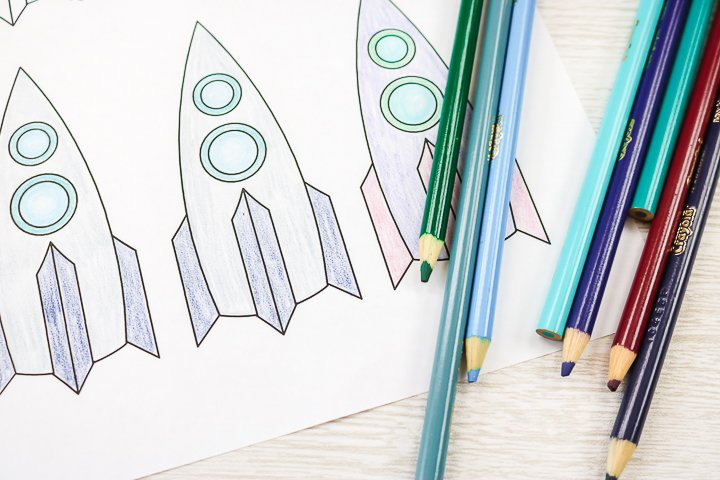 coloring rockets