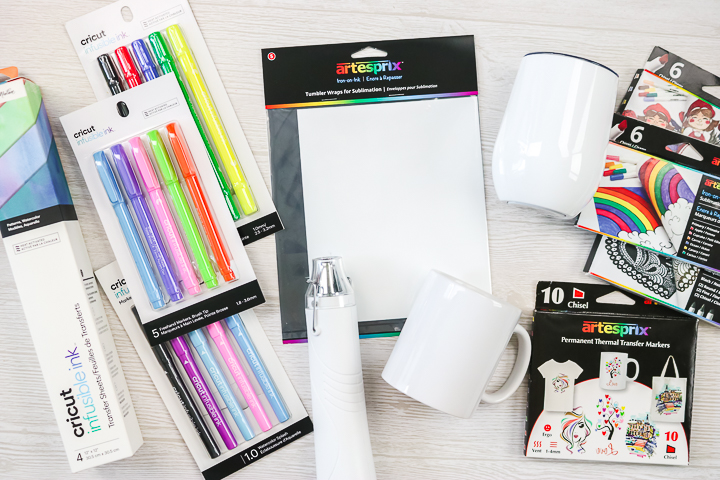 supplies for mug sublimation process
