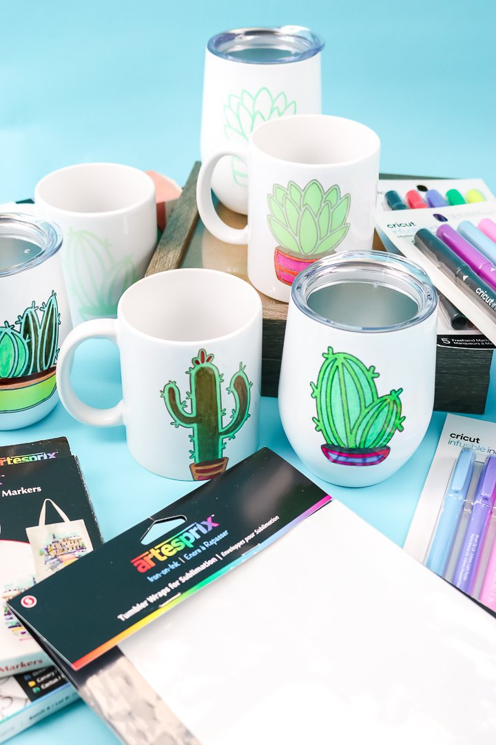 sublimation on mugs and tumblers
