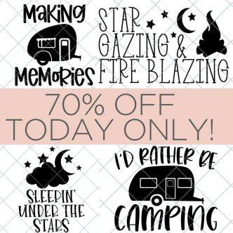 camping file svg bundle sale