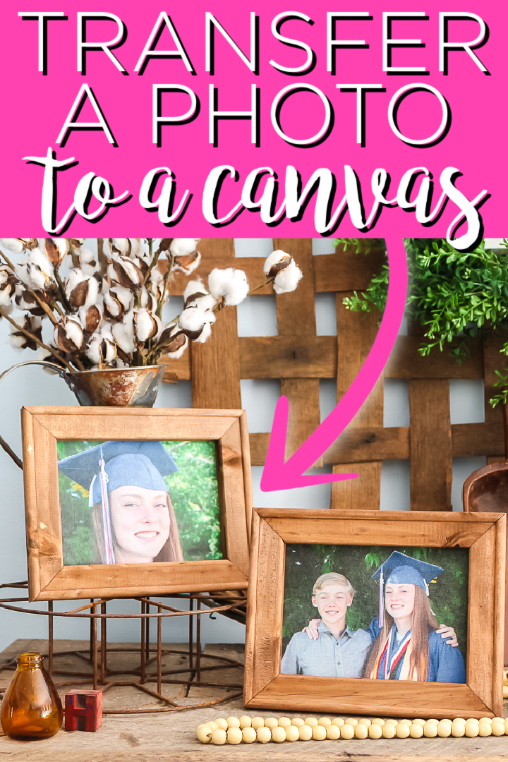 Learn how to transfer a photo to canvas with this easy tutorial! Using t-shirt transfer sheets you can iron on any image to a canvas right at home making inexpensive art! #canvas #picture #photo #art #decor #homedecor