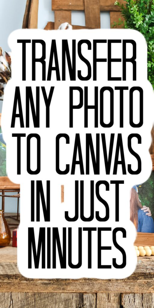 It only takes minutes to do this simple and easy DIY project. Transfer a photo to canvas for some gorgeous art for you home! #canvas #homedecor #decor