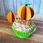 DIY Pumpkin Cupcake Topper with Your Cricut