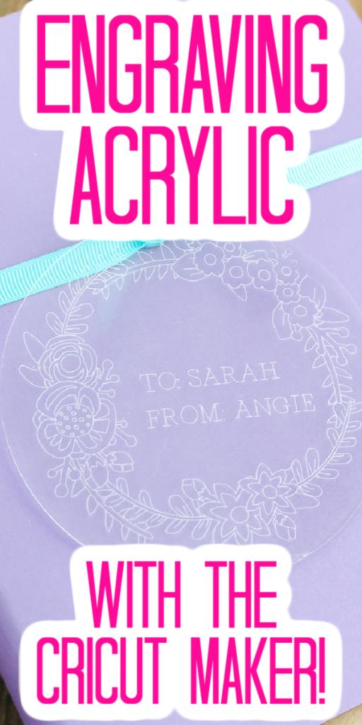 Comment graver de l'acrylique - Comment graver de l'acrylique avec Cricut