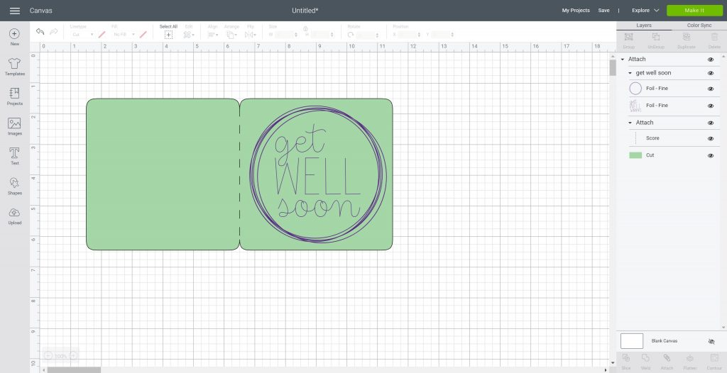 attaching objects in cricut design space