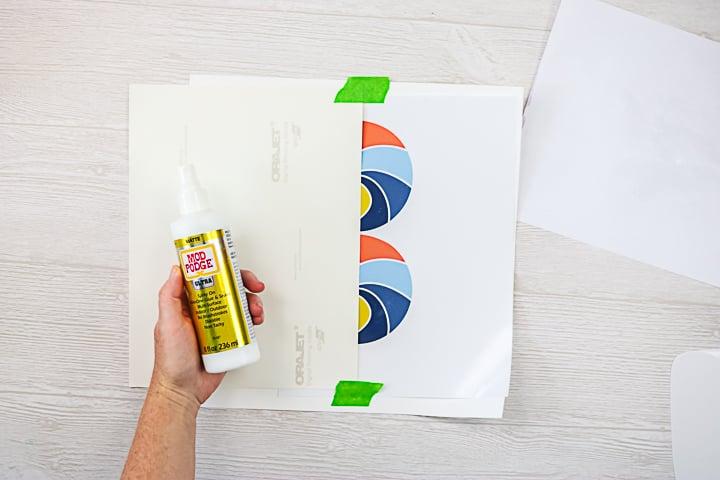 mod podge ultra on printable vinyl