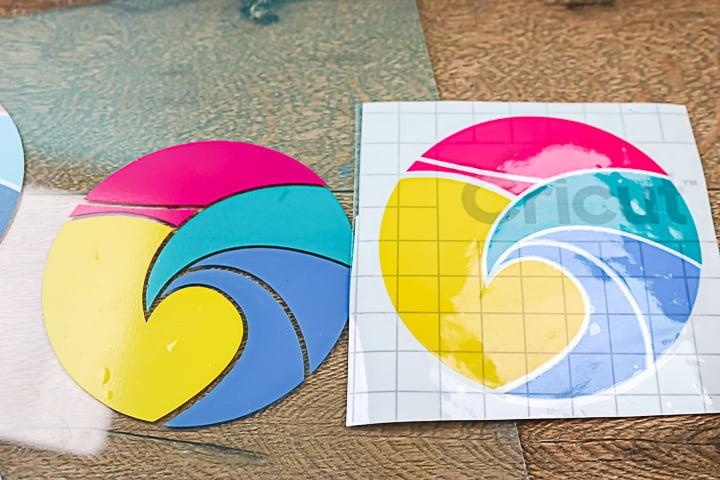 cricut permanent vinyl on glass outdoors