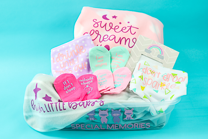dollar store baby gift basket