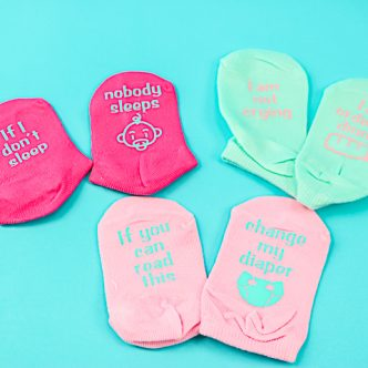 funny baby socks with sayings