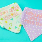 funny baby bibs with iron on