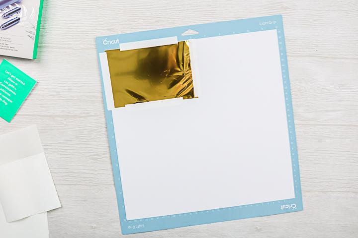 adding foil sheet to cricut mat