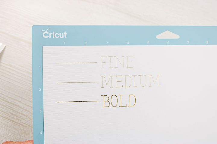 difference in foil lines on a cricut