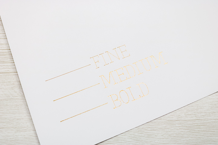 foil writing with foil quill in a cricut