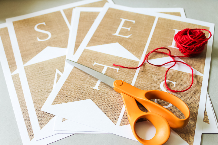 supplies to make a rustic party banner