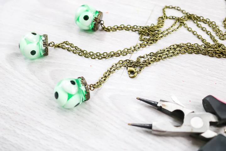 adding necklace chain with jewelry pliers
