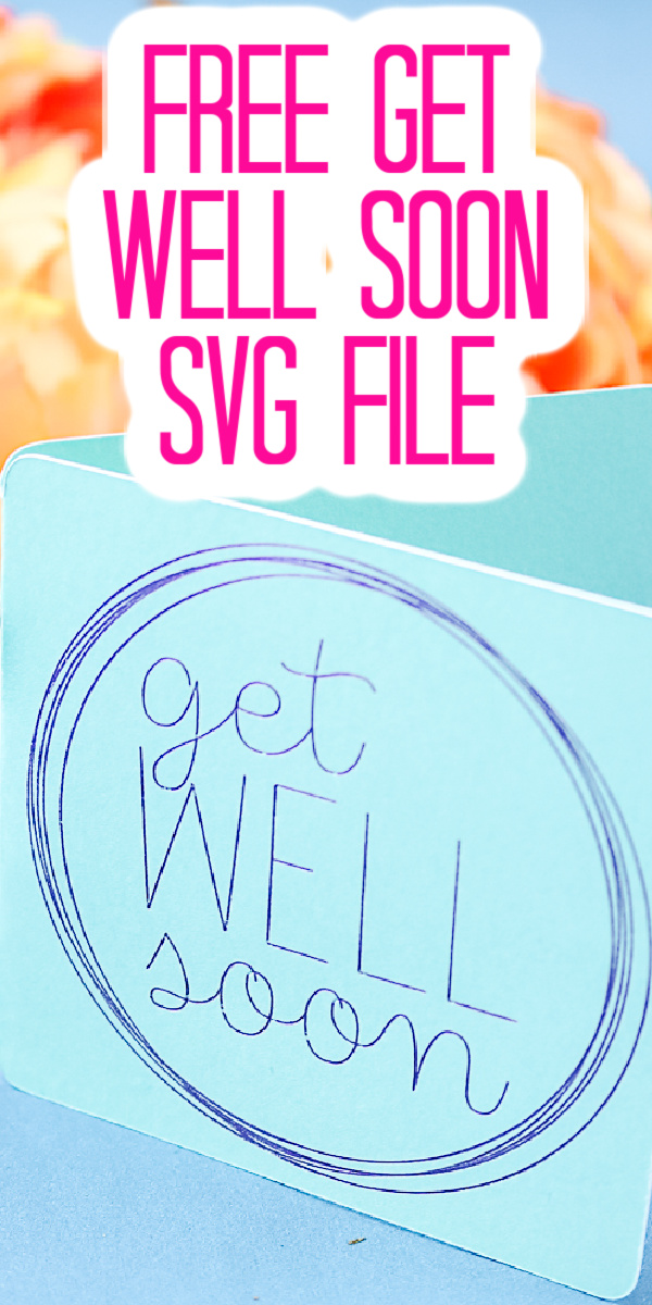 Get this free get well soon SVG file that is perfect for drawing on cards and so much more! Great single line SVG file you will love! #svg #freesvg #getwellsoon #svg