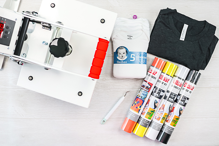 supplies to make shirts with a cricut