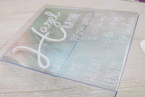 cricut vinyl on acrylic sign