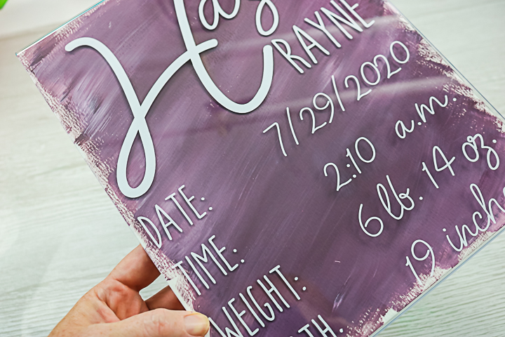 dollar store acrylic sign craft