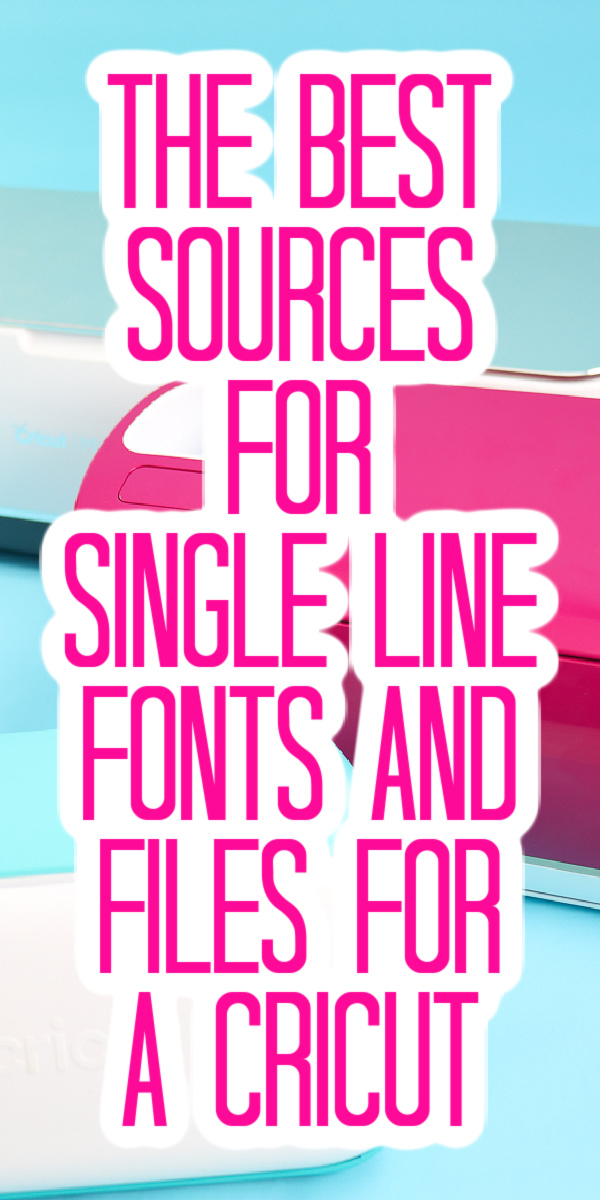 Need to know where to find single line fonts and files for your next Cricut project? Draw, engrave, and foil with these single line designs! #cricut #cricutcreated #singleline #engraving #foiling #drawing #fonts #files