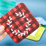 sublimation ink coaster with a cricut