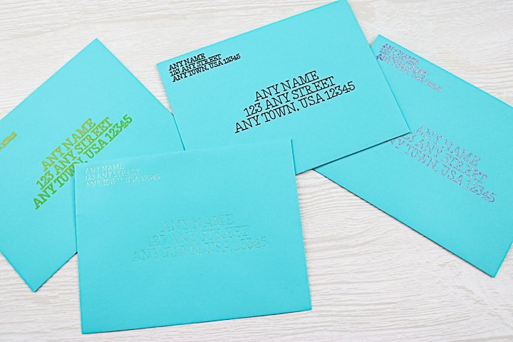adding addresses to envelopes with a cricut