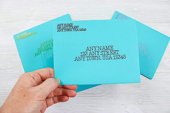 envelope addressed with a cricut explore