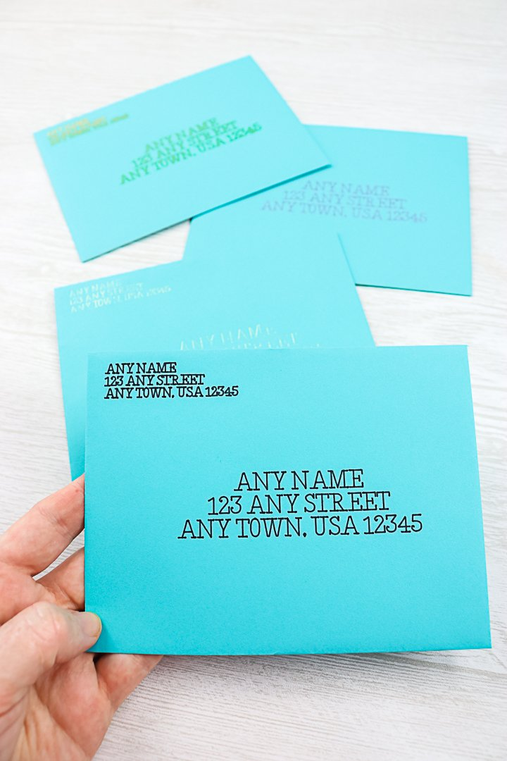 how to use a cricut for addressing envelopes