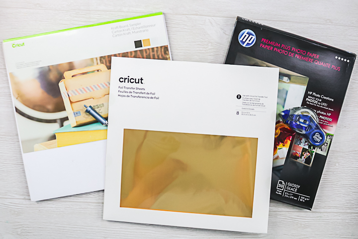 supplies to foil on photo paper