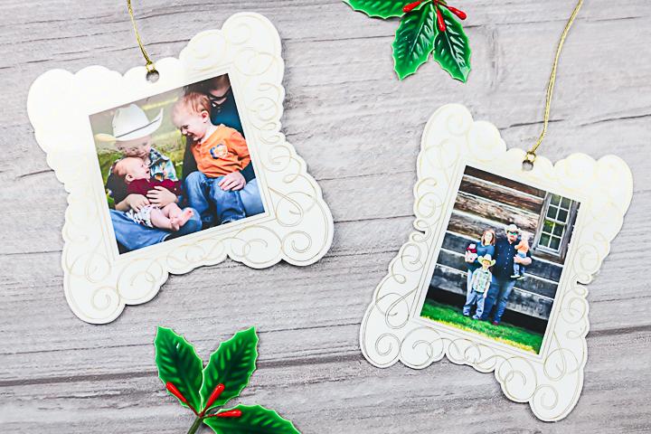 cricut photo ornaments