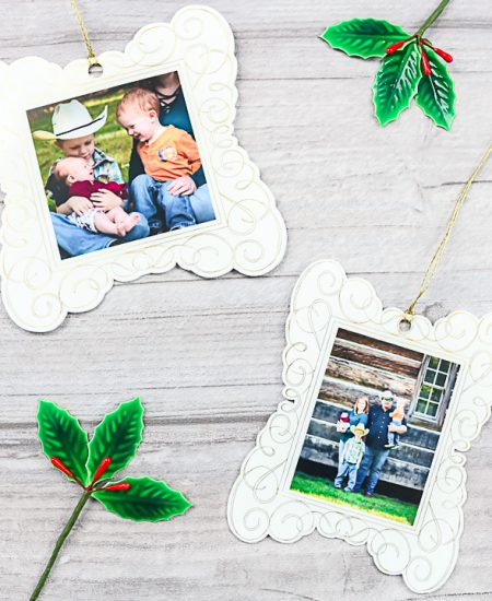 photo ornaments with a cricut