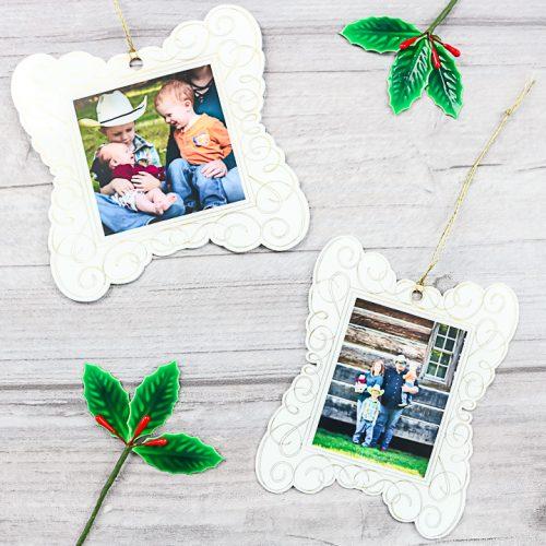 photo ornaments with a cricut