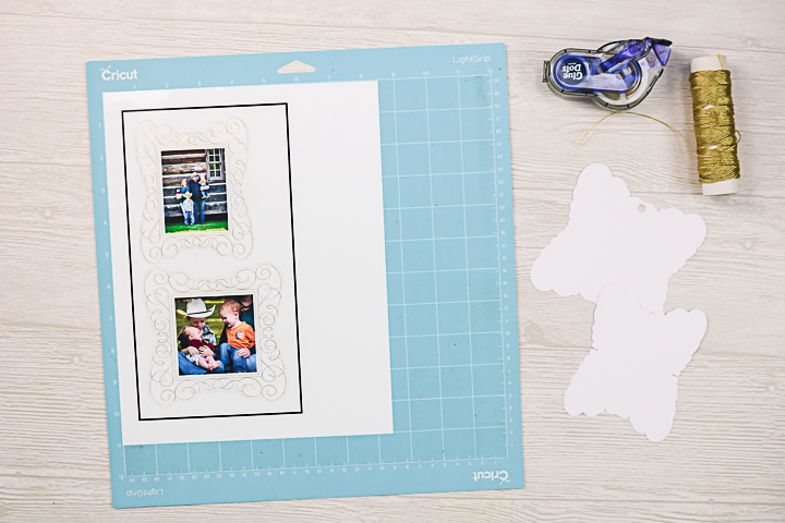 making photo ornaments with a cricut
